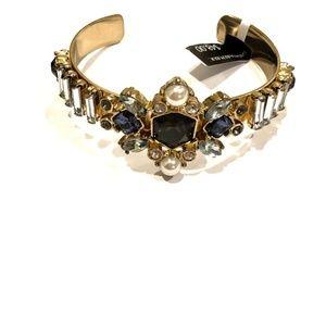 Banana Republic Midnight Crystal Cuff Bracelet nwt